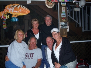 Bill and Betty (LaBarr)Schmidt, Randy and Nancy (Triggs) Page and Debbie (Stodghill) Dew & Ric Olson at the 'Bar Nunn'